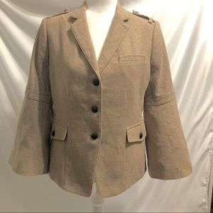 Banana Republic Military Lurex Wool Jacket Tan